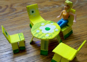 Egg-carton-furniture-yellow